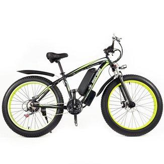 Bicicleta elétrica Mormaii mountain s aro 26 bateria lítio 48v 10a