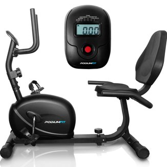 Bicicleta Ergométrica Horizontal PodiumFit H100 Magnética 8cargas Max130Kg