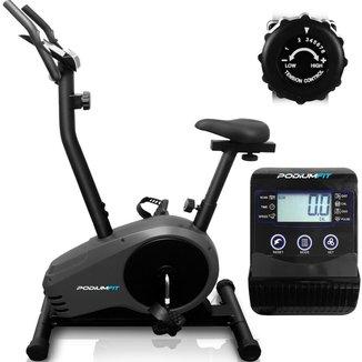 Bicicleta Ergométrica PodiumFit V300 - Magnética - 8cargas - Max150Kg - Silenciosa
