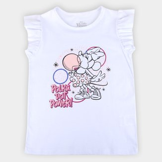 Blusa Infantil Disney Polka Minnie Feminina