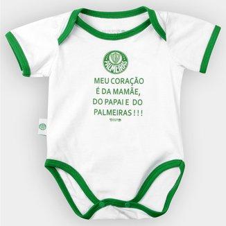 Body Palmeiras Bebê Meu Coração É...