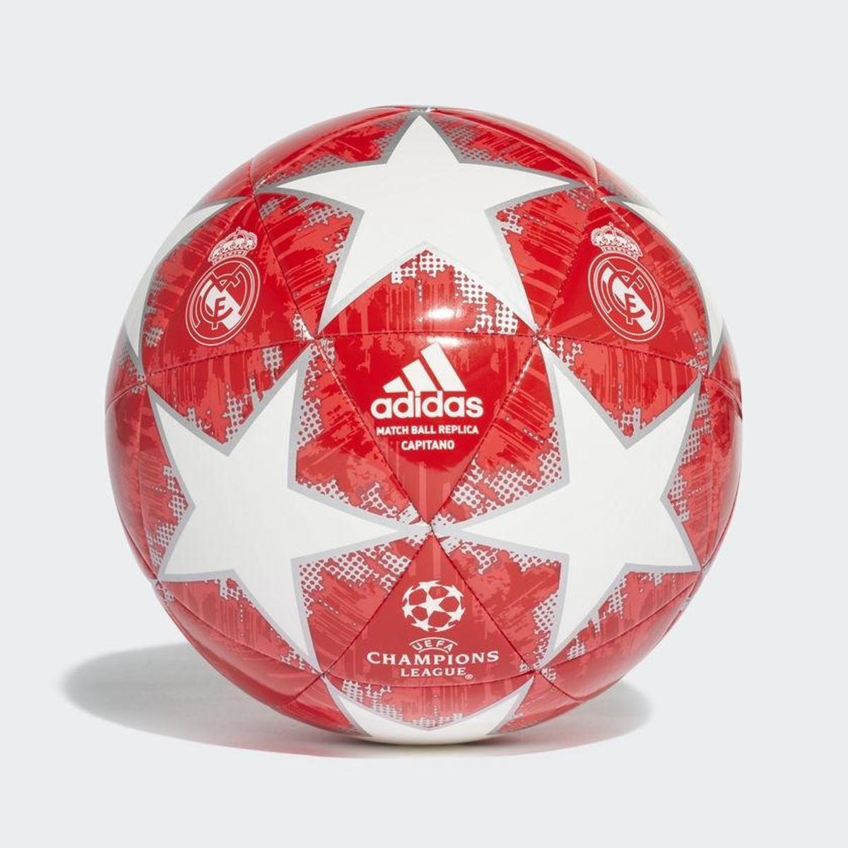 cd85f9be91 Bola de Futebol Campo Real Madrid Adidas Finale 18 UCL - Branco e ...
