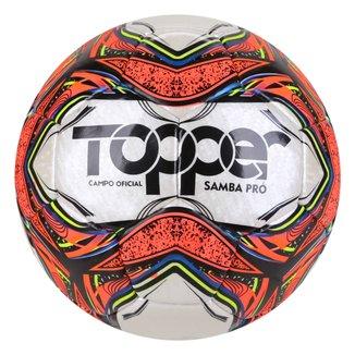 Bola de Futebol Campo Topper Samba Pro Costurada