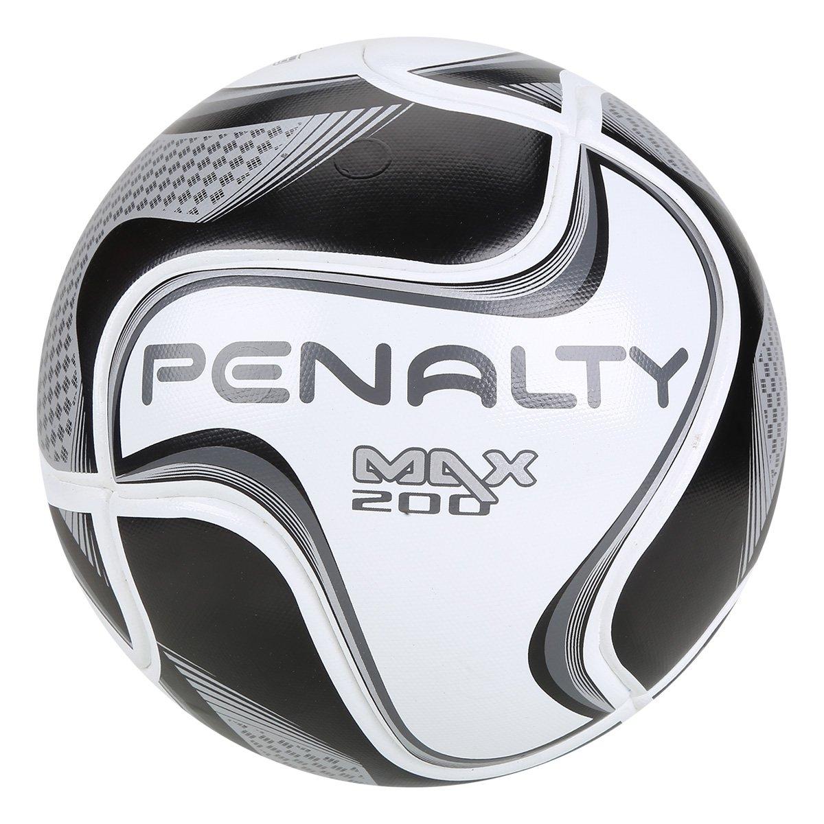 Bola de Futsal Penalty Max 200 All Black - Edição Limitada - Branco ... 7098133d10d63