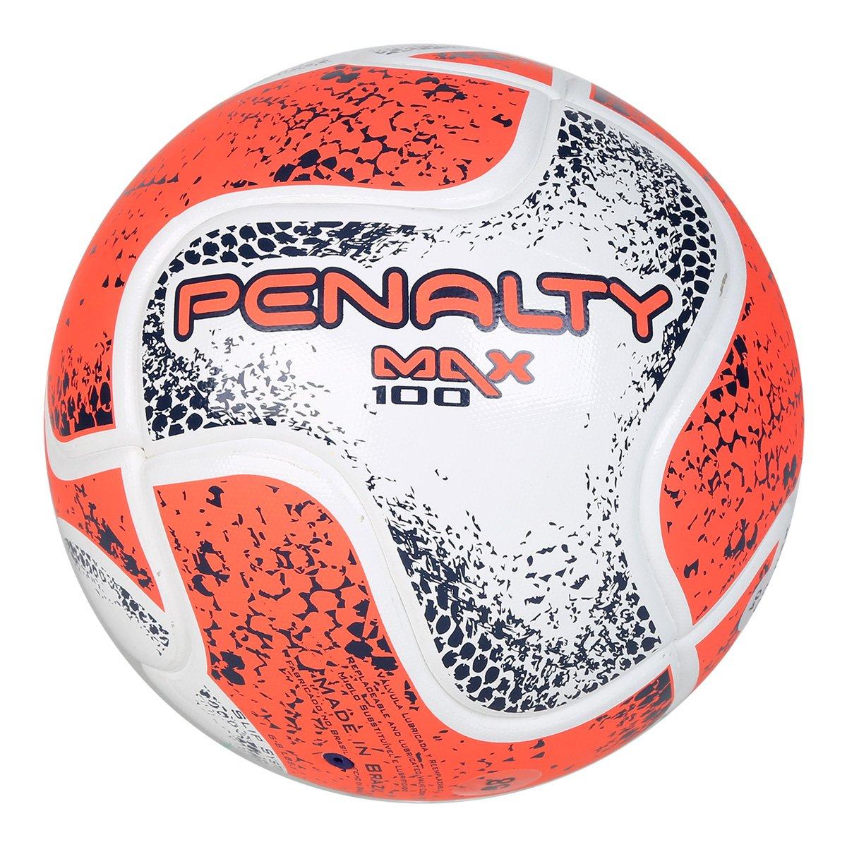 64c76fa9740fa Bola Futsal Penalty Max 100 Term VIII - Branco e Laranja - Compre ...