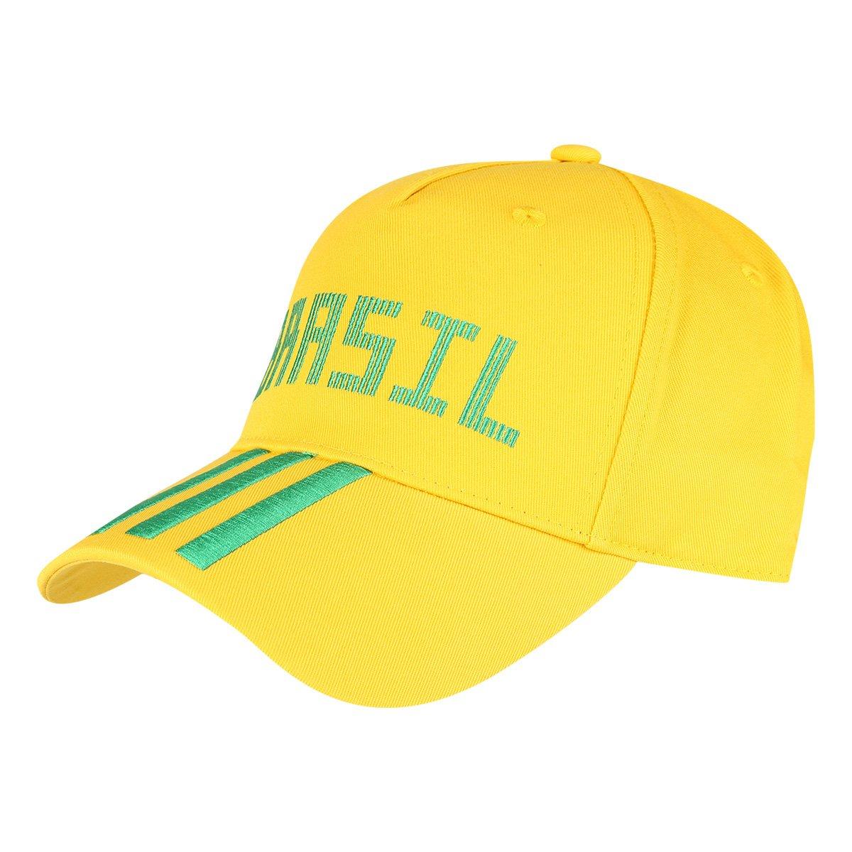 4e8c68269aa21 Boné Adidas Brasil Aba Curva 3 Stripes | Allianz Parque Shop
