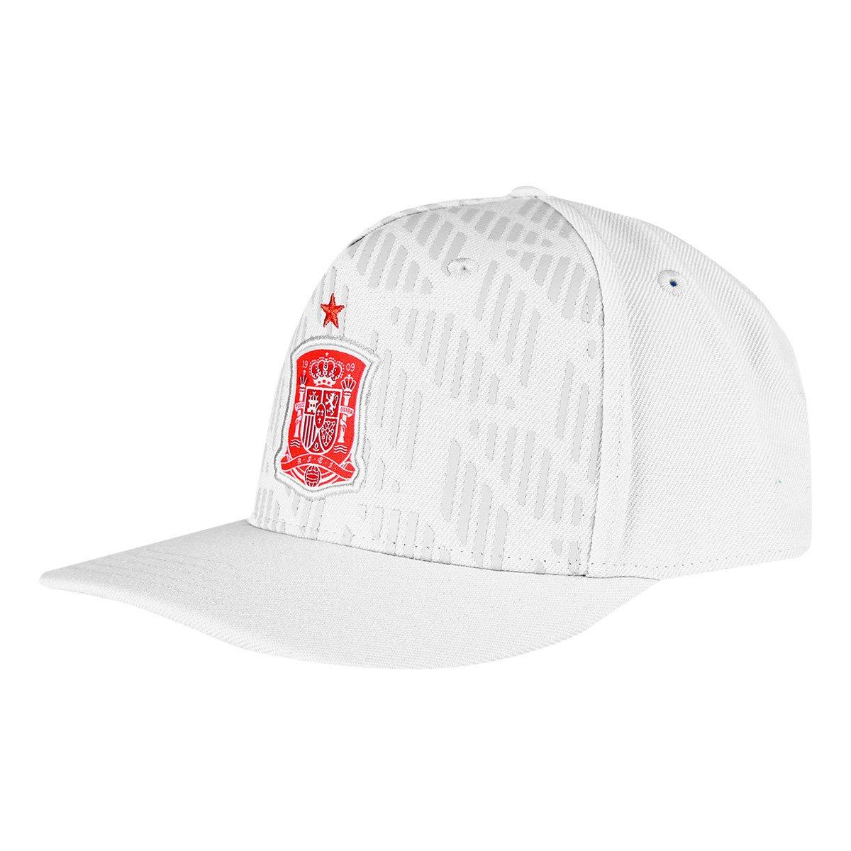 Boné Adidas Espanha Aba Reta - Branco - Compre Agora  3b5078efa59