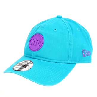 Boné New Era Aba Curva Strapack 940 Nyc Circle Rubber Teal Breeze