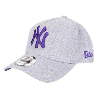 Boné New Era MLB New York Yankess Aba Curva Snapback A-Frame 9Forty