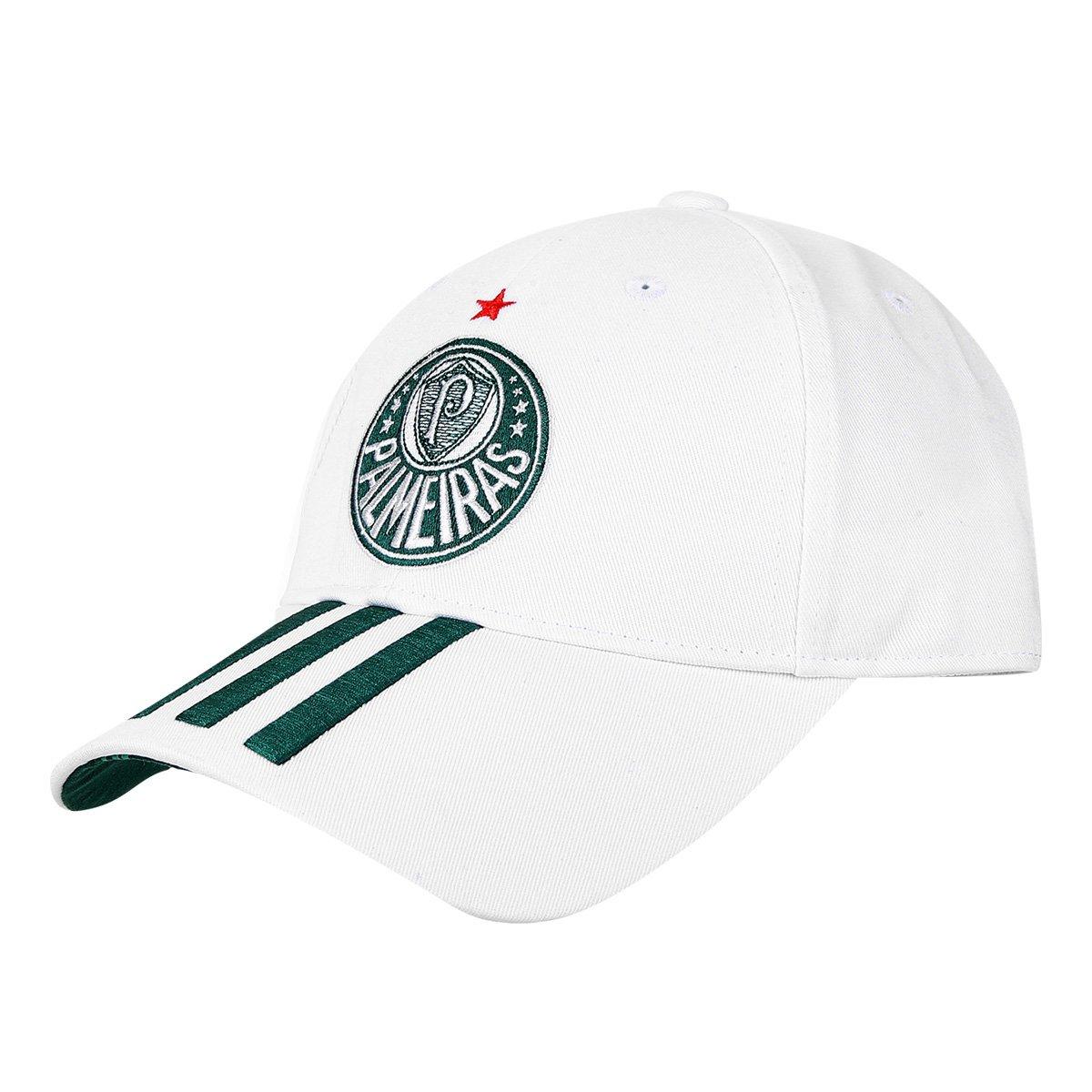 Boné Palmeiras Adidas 3Stripes Aba Curva - Compre Agora  26cdc86f6a1