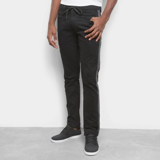 Calça Hd Color Slim Listra Lateral Masculina