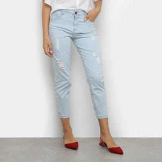 Calça Jeans Vide Bula Cropped Feminina