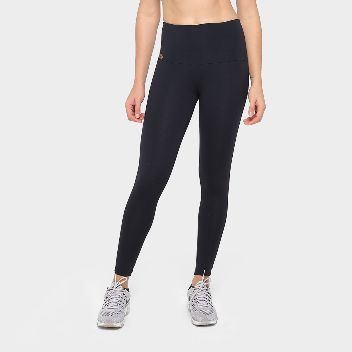adb1f654f Calça Legging Sawary Fitness Tule Feminina - Preto - Compre Agora ...