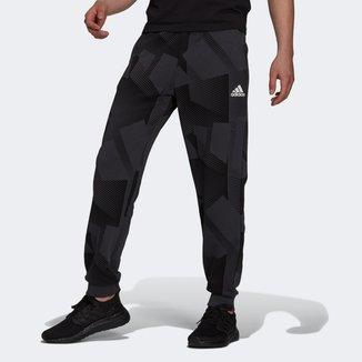 Calça Moletom Adidas 3Bar Grafica Masculina