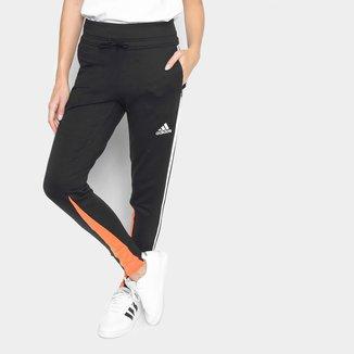 Calça Moletom Adidas Light 3 Listras Feminina