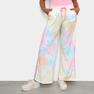 Calça Pantalona Tie Dye Tricats Feminina