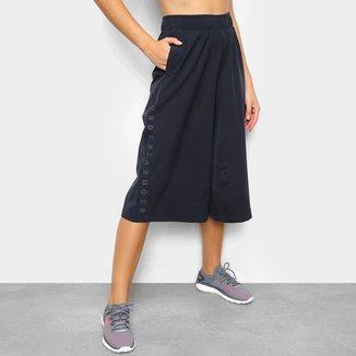Calça Under Armour Cropped Woven Wide Leg Feminina