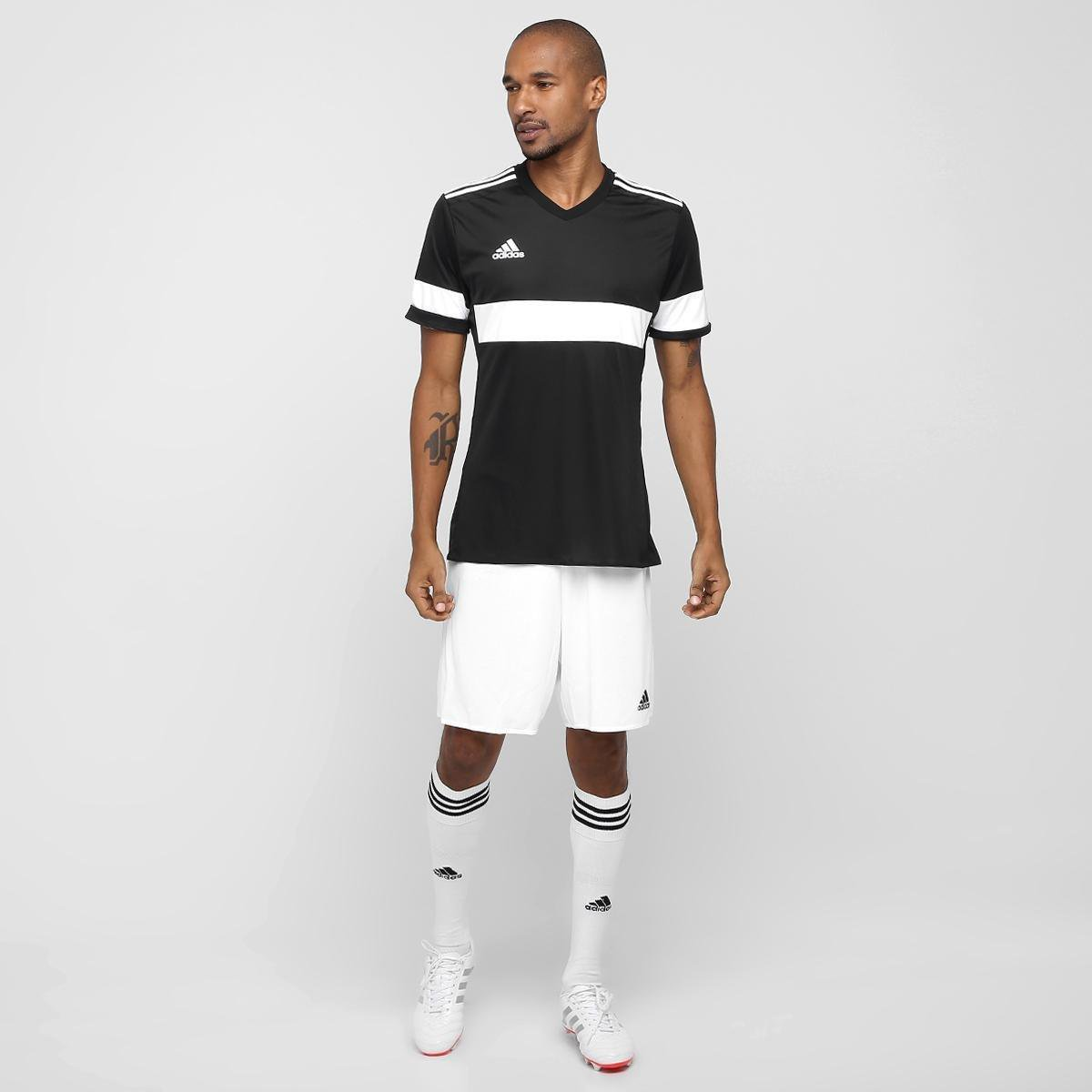 Calção Adidas Parma Masculino - Branco e Preto - Compre Agora ... 3854046ee2814