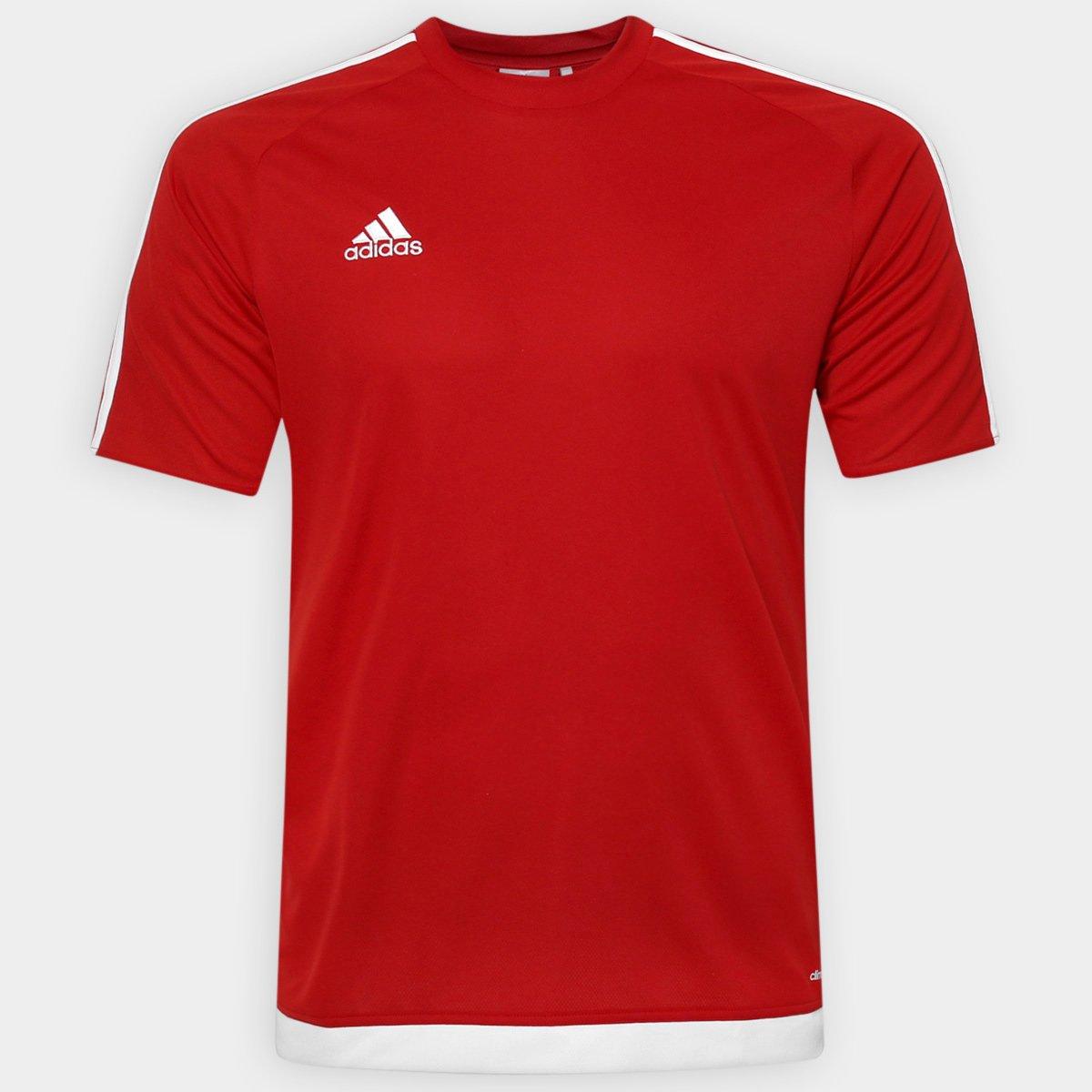 7027bc9142ef6 Camisa Adidas Estro 15 Masculina - Vermelho - Compre Agora