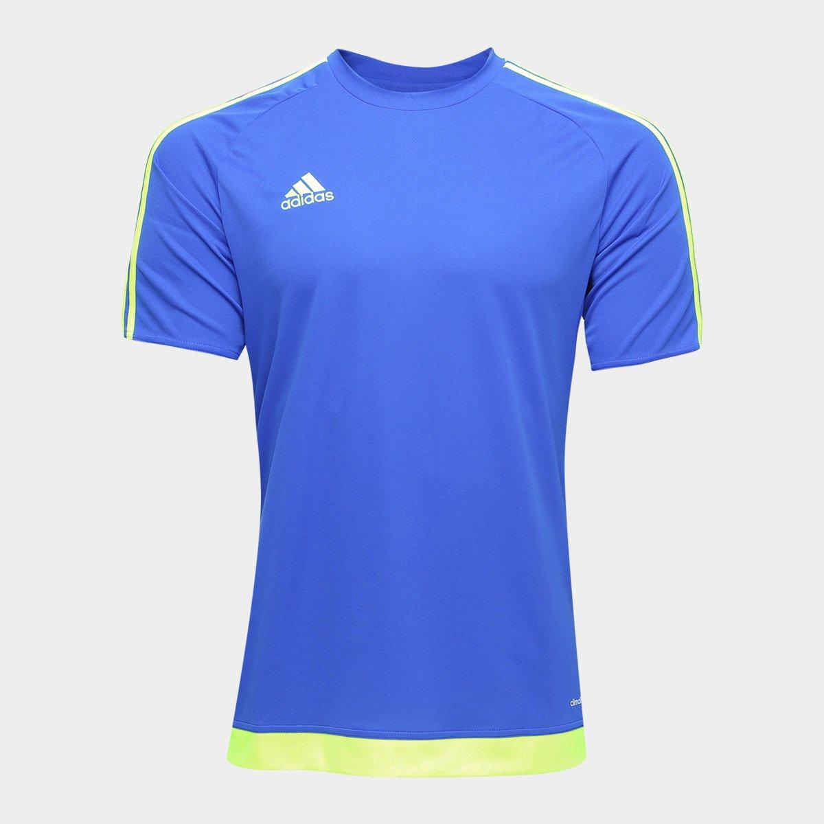 Camisa Adidas Estro 15 Masculina - Azul Escuro - Compre Agora ... f3cc1f80fc4a4