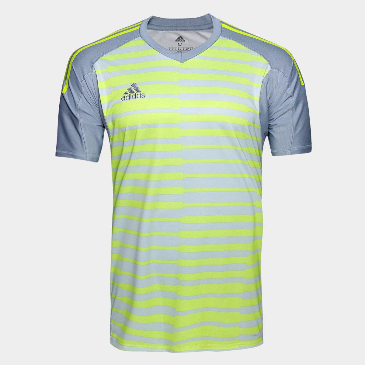 Camisa Adidas Goleiro Adipro 18 Masculina - Cinza e Amarelo - Compre ... a89d5b5ceb23b