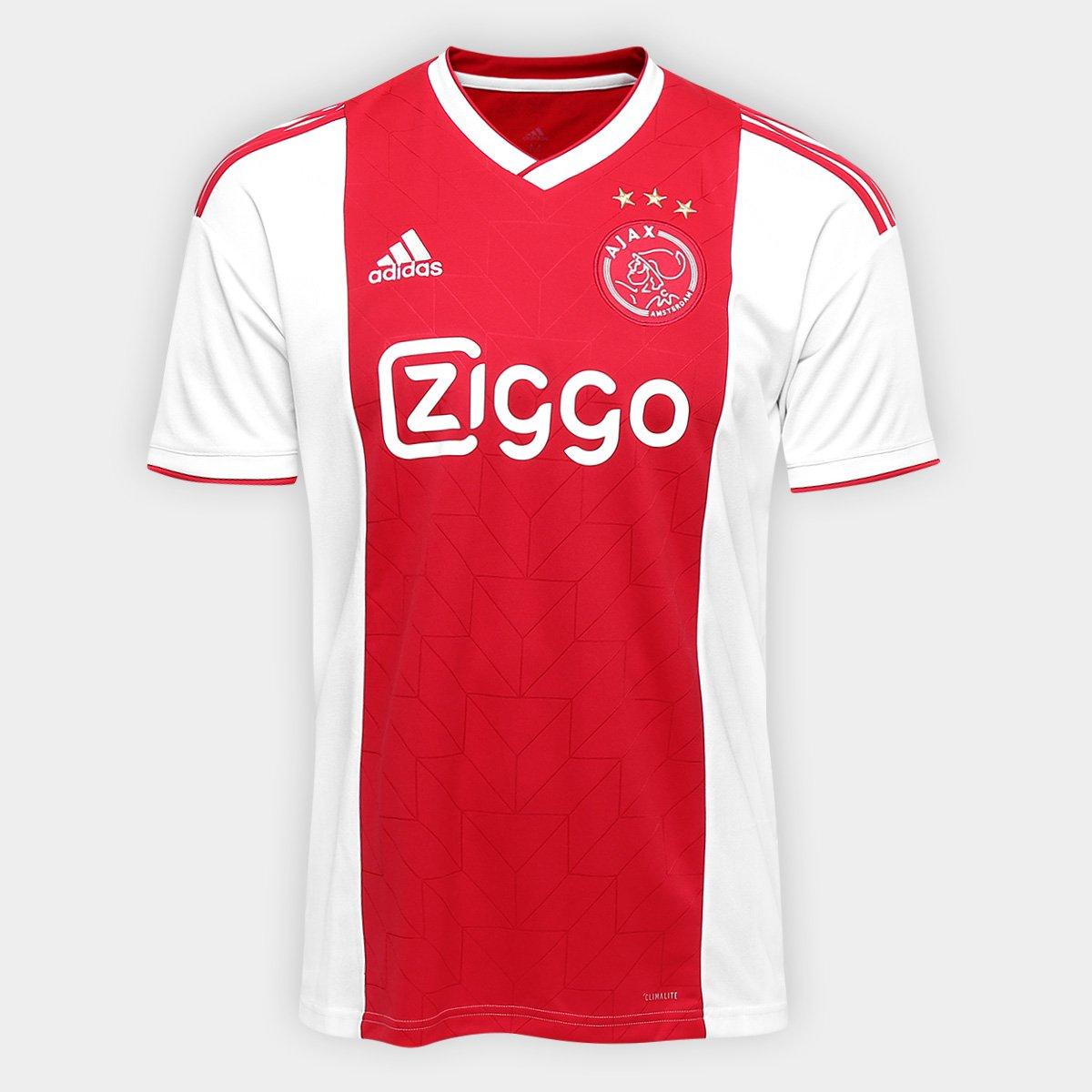 d736a48dff Camisa Ajax Home 2018 s/n° - Torcedor Adidas Masculina - Branco e Vermelho    Allianz Parque Shop