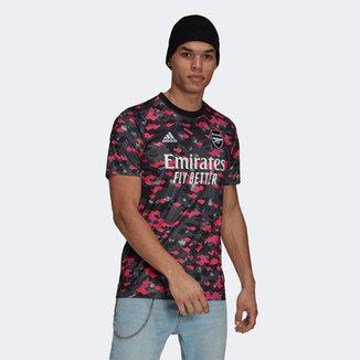 Camisa Arsenal Pré-Jogo 21/22 Adidas Masculina