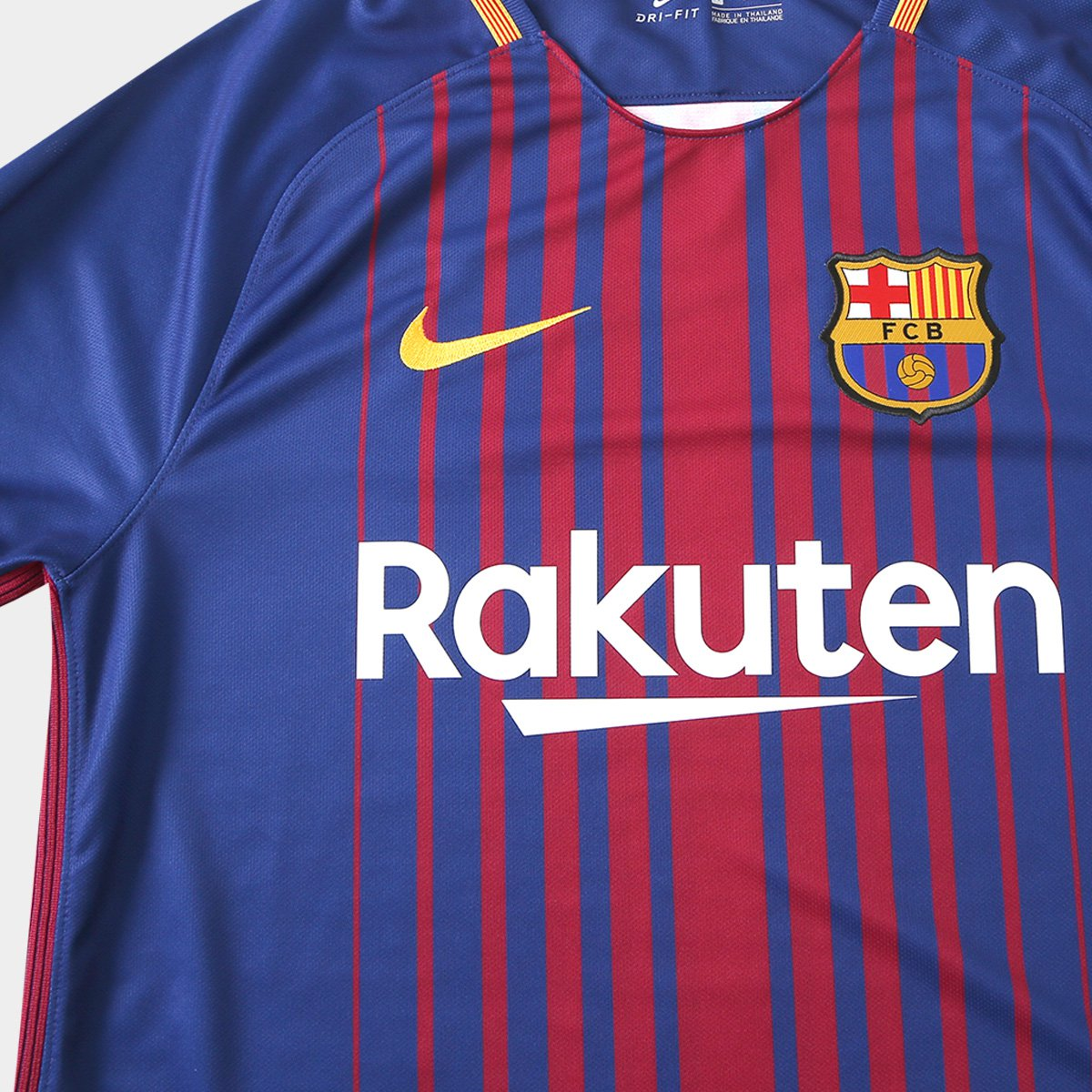 Camisa Barcelona Home 17 18 s nº Torcedor Nike Masculina - Azul ... e057c4f454472