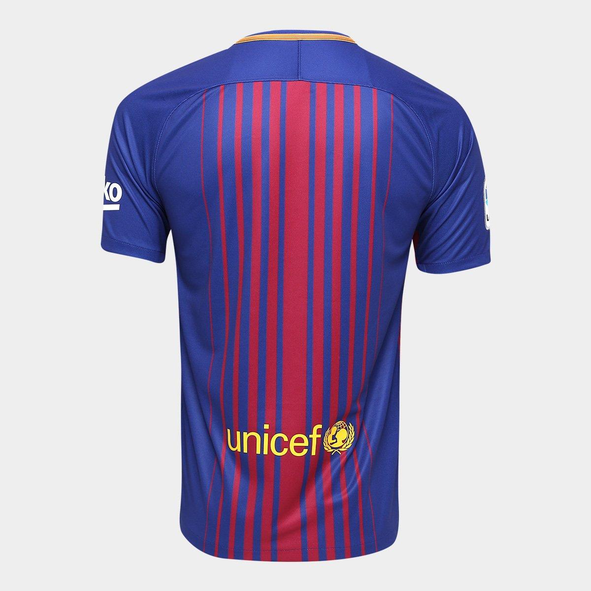 Camisa Barcelona Home 17 18 s nº Torcedor Nike Masculina - Compre ... 4c1da93051eba