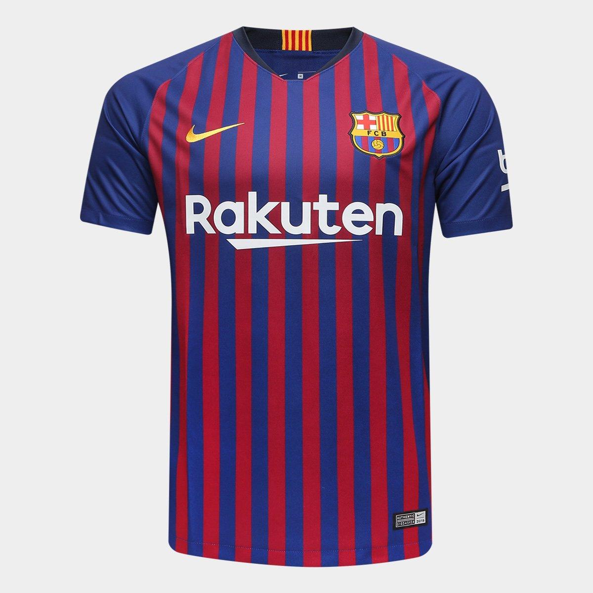 364074e66 Camisa Barcelona Home 2018 s n° Torcedor Nike Masculina - Azul e Grená -  Compre Agora