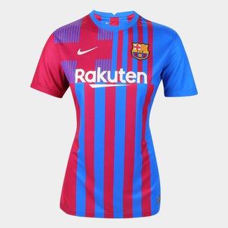 Camisa Barcelona Home 21/22 s/n° Torcedor Nike Feminina