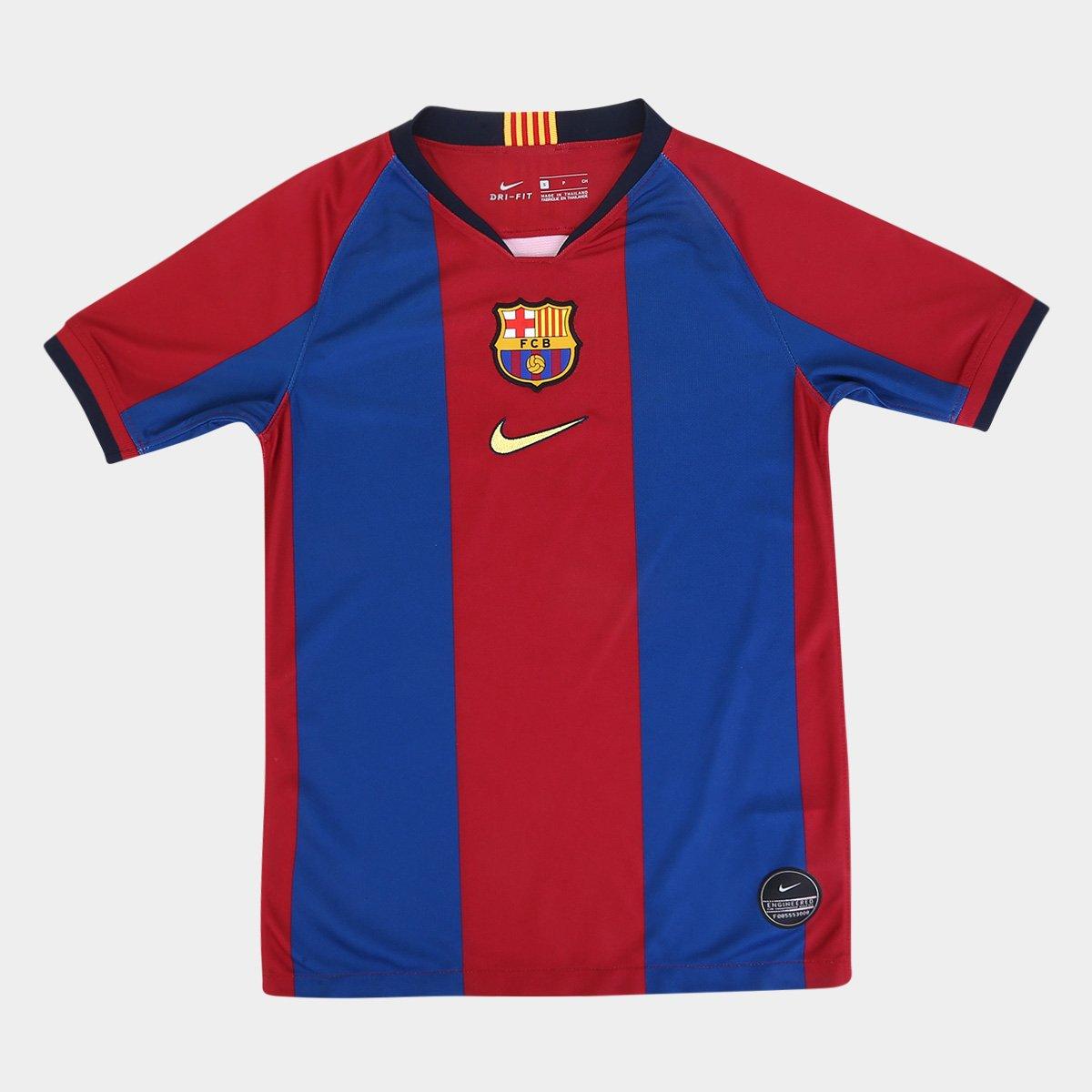066bba950e Camisa Barcelona Infantil 98/99 s/n° Torcedor Nike - Edição Limitada - Azul  | Allianz Parque Shop