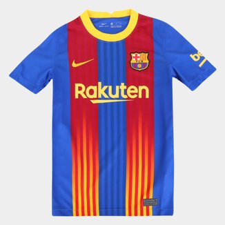 Camisa Barcelona Juvenil Stadium 20/21 s/n° Torcedor Nike