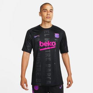 Camisa Barcelona Pré Jogo 21/22 Nike Champions League Masculina