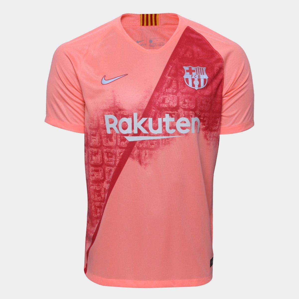 81d3bfa6b69c2 Camisa Barcelona Third 2018 s nº - Torcedor Nike Masculina - Salmão -  Compre Agora