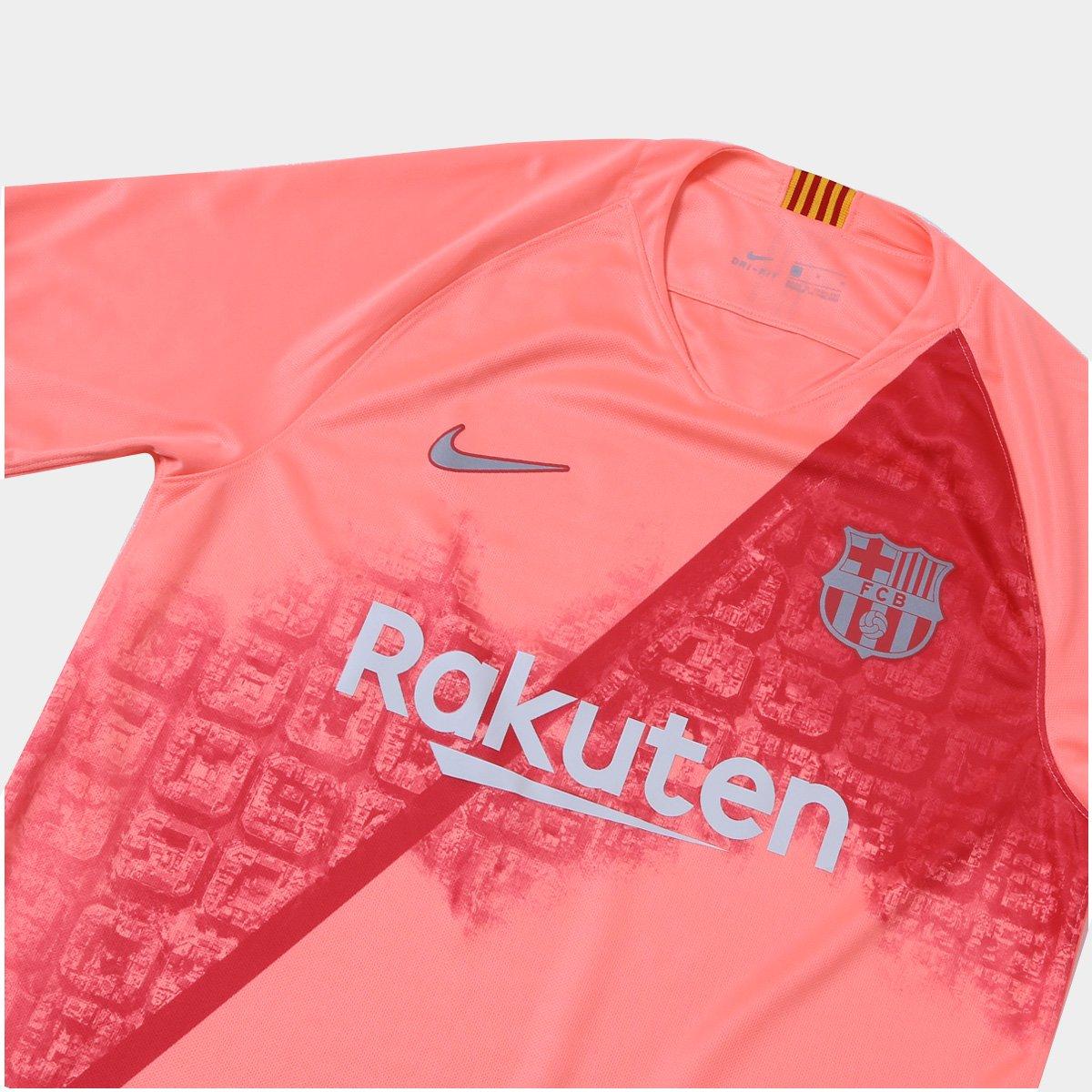 Camisa Barcelona Third 2018 s nº - Torcedor Nike Masculina - Salmão ... c33a5cedf4474