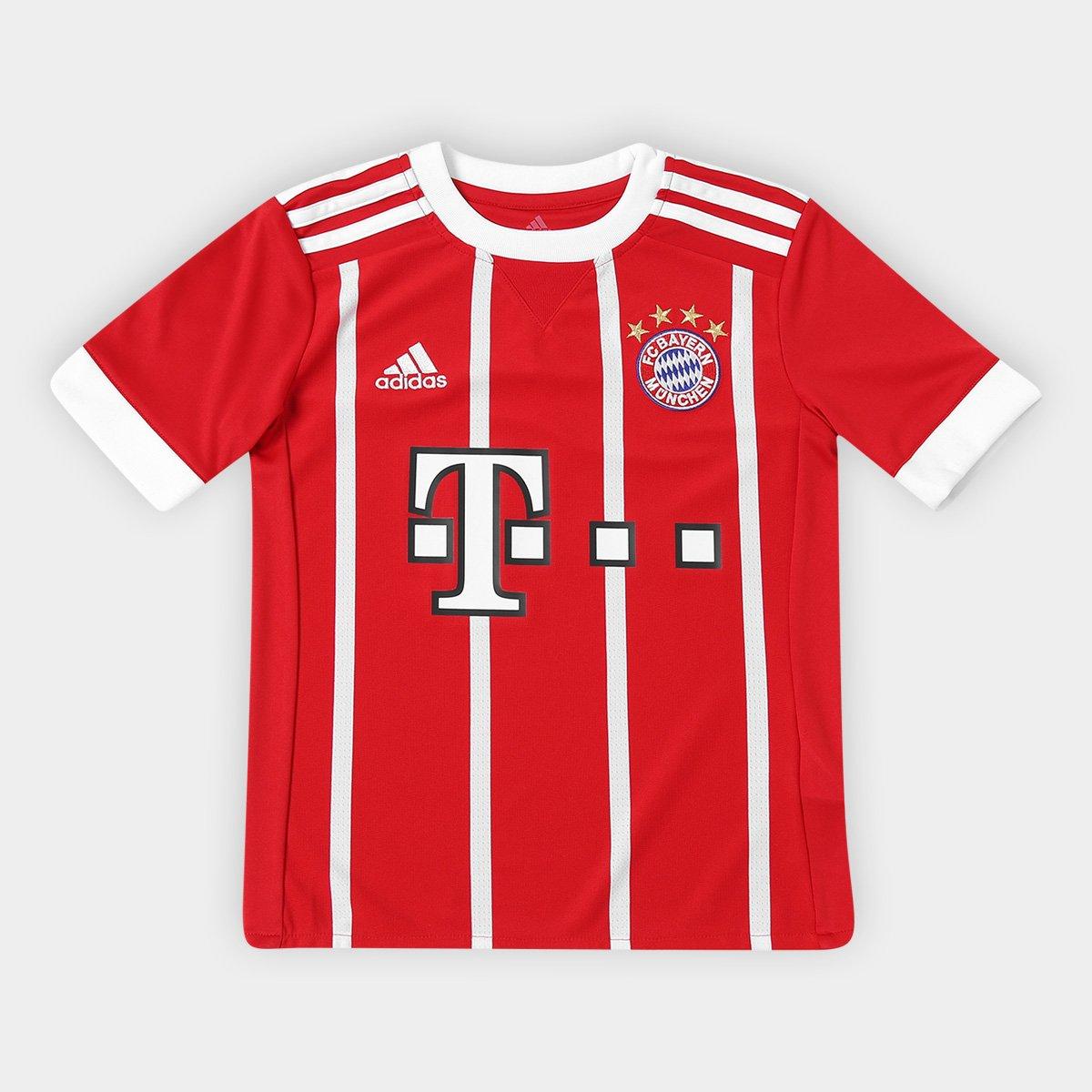 238a2fb3ca Camisa Bayern de Munique Infantil Home 17/18 s/nº - Torcedor Adidas -  Vermelho | Allianz Parque Shop