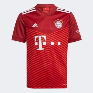 Camisa Bayern de Munique Juvenil Home 21/22 s/n° Torcedor Adidas