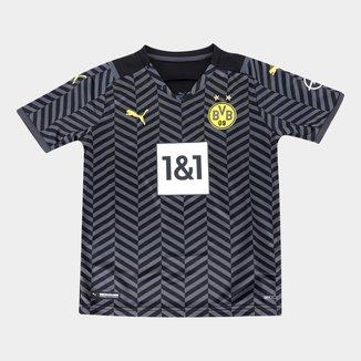 Camisa Borussia Dortmund Juvenil Away 21/22 s/n° Torcedor Puma
