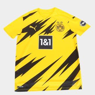 Camisa Borussia Dortmund Juvenil Home 20/21 s/n° Torcedor Puma