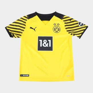 Camisa Borussia Dortmund Juvenil Home 21/22 s/n° Torcedor Puma