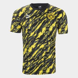 Camisa Borussia Dortmund Pré-Jogo 21/22 Puma Masculina