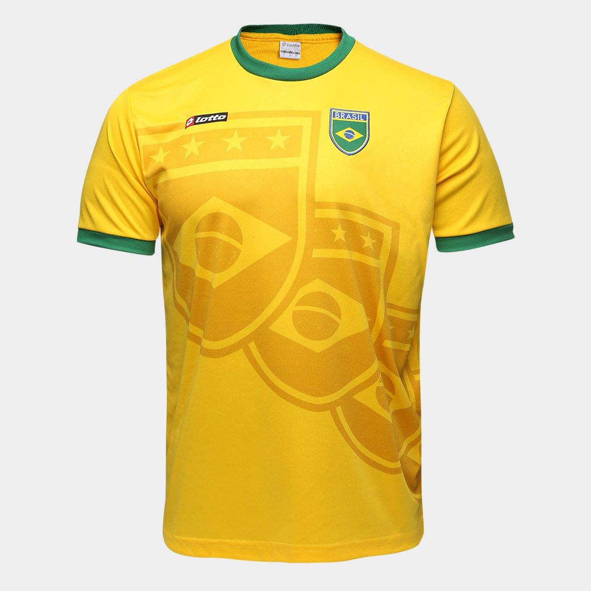 f21c9a8e2a Camisa Brasil 1994 n° 11 Lotto Masculina - Amarelo e Verde