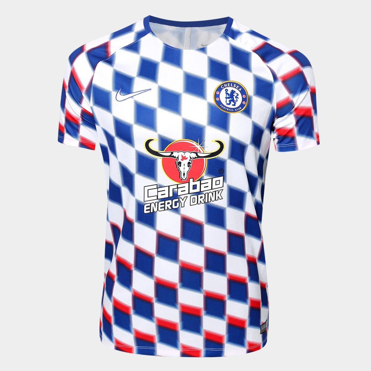 Camisa Chelsea Pré-Jogo Dry Squad 2018 s n° - Nike Masculina ... ba2d90f0fa6c4