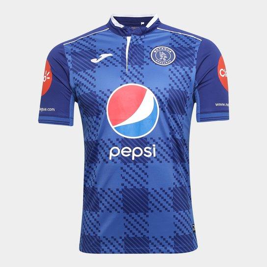 Camisa Club Deportivo Motagua Home 17/18 s/n°- Torcedor Joma Masculina - Azul