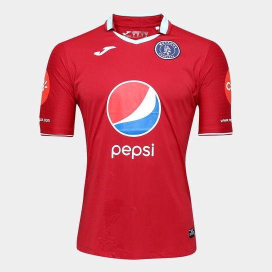 Camisa Club Deportivo Motagua Third 17/18 s/n°- Torcedor Joma Masculina - Vermelho