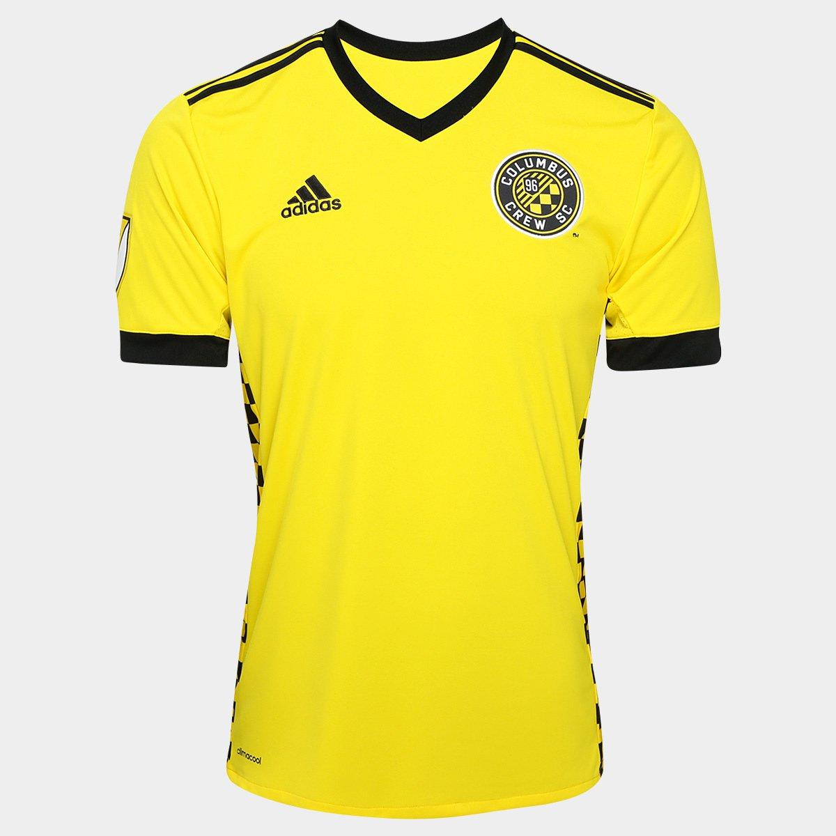 c57fd5e4afc4e Camisa Columbus Crew MLS Home 17/18 s/nº Torcedor Adidas Masculina - Amarelo  e Preto | Allianz Parque Shop