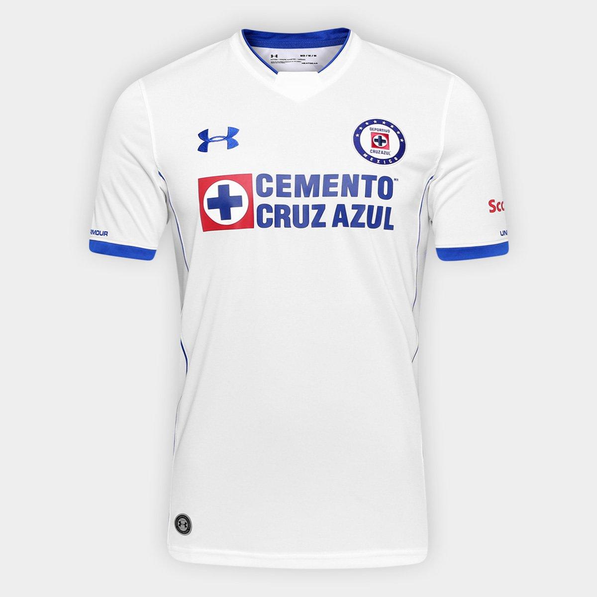 4f299e769 Camisa Cruz Azul Away 17/18 s/n° - Torcedor Under Armour Masculina |  Allianz Parque Shop