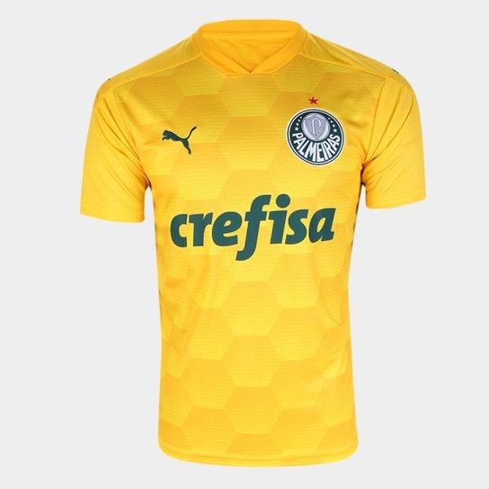 Camisa de Goleiro Palmeiras I 20/21 s/n° Torcedor Puma Masculina - Amarelo