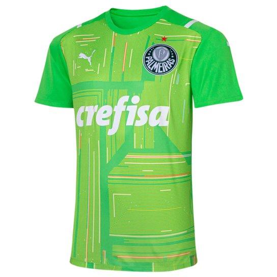 Camisa de Goleiro Palmeiras II 21/22 s/n° Torcedor Puma Masculina - Verde